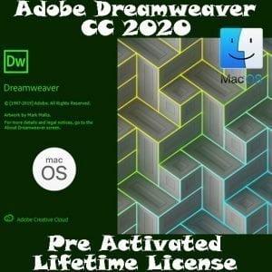 ADOBE DreamWeaver 2020 MacOs Pre-Activated