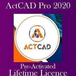 ActCAD PROFESSIONAL 2020 Pre-Activated