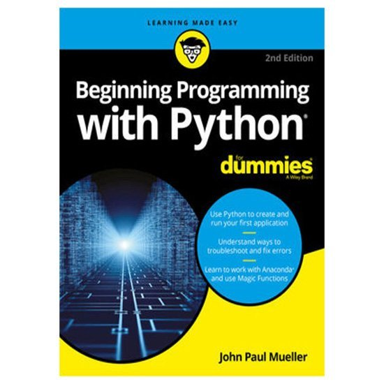 Beginning Programming with Python For Dummies PDF E-book By John Paul Mueller
