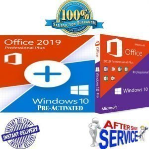 Windows 10 Pro Pre-Activated + Office Pro 2019