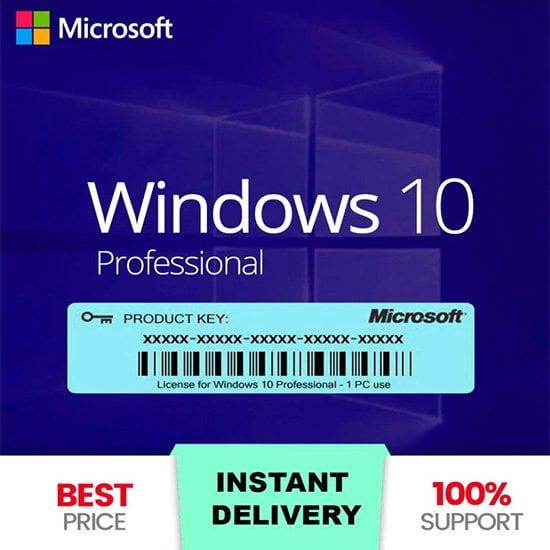 Microsoft Windows Pro Activation Key 32-64 Bits