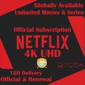 Netflix Original Subscriptions 4K – 5 Screens