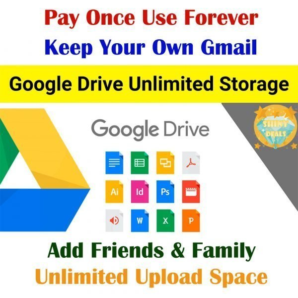 Unlimited Google Drive Shared Storage Valid For Lifetime Use With Your Personal Gmail Account _ Instant Delivery _ 100% Quality Guaranteed