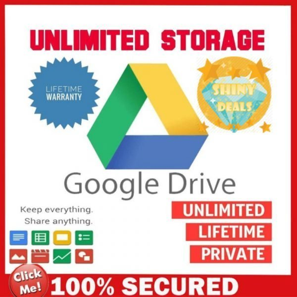 Unlimited Google Drive Shared Storage Valid For Lifetime Use With Your Personal Gmail Account _ Instant Delivery _ 100% Quality Guaranteed _ Best Offers