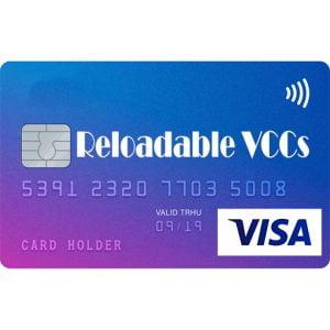 VISA Reloadable Virtual Credit Cards For Online Payment
