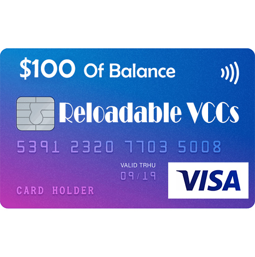 VISA Reloadable Virtual Credit Cards For Online Payment _ 100 usd