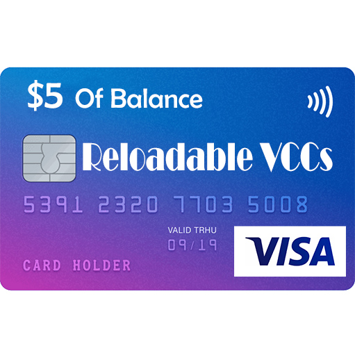 VISA Reloadable Virtual Credit Cards For Online Payment _ 5 usd