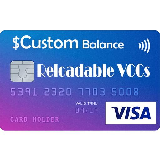 VISA Reloadable Virtual Credit Cards For Online Payment _ Custom